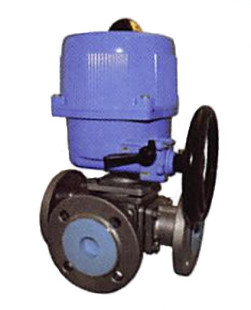 Stainless Steel 3 Way Ball Valve - Electric Actuator